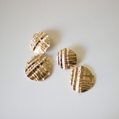 Textured Discs Earring