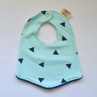 Navy triangle bib