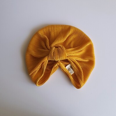 Barbett Cortrelli Plisse Turban in Sunflower