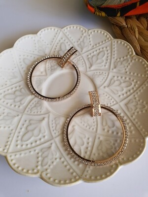 Rosegold Diamante Hoop