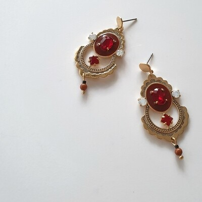Princess of Persia Earring in Red