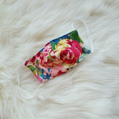 Kid's 3 Ply Face Mask in Pink Floral
