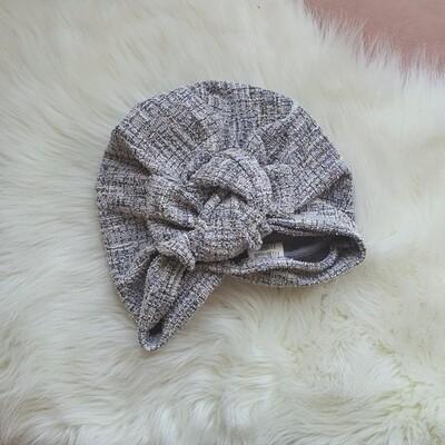 Barbett Cortrelli Tweed Knotted Bow Turban