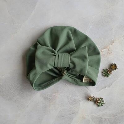 Barbett Cortrelli Bow Turban in Sage