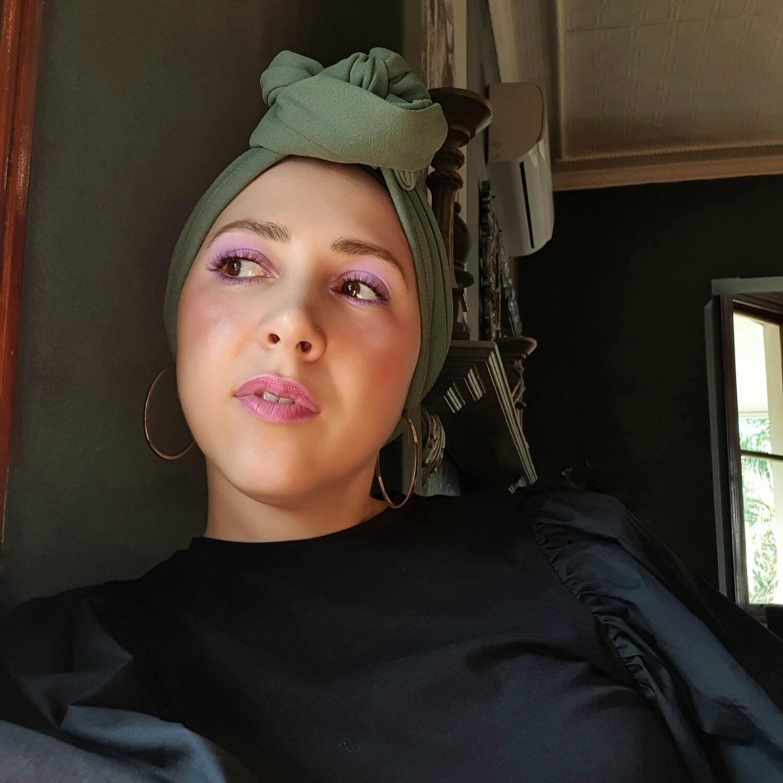Barbett Cortrelli Dahlia Turban in Sage