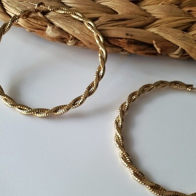 Twisted Hoop Earring