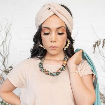 Cotton Headband in Tapioca