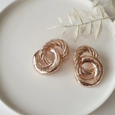 80s Linked Earring in Rosegold