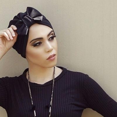 Barbett Cortrelli Petite Bow Turban in Black