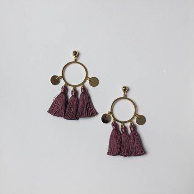 Mauve Tassle Earring