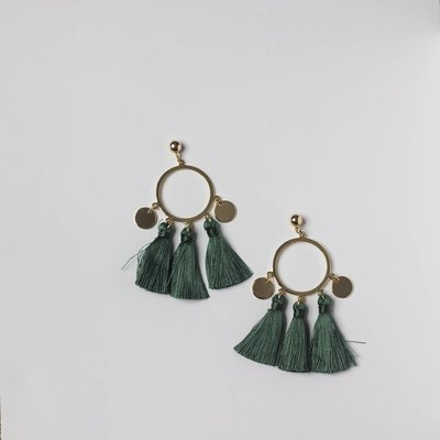 Sage Tassle Earring