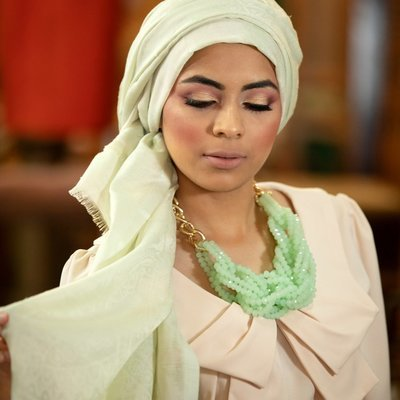 Paisley Scarf in Palest Green