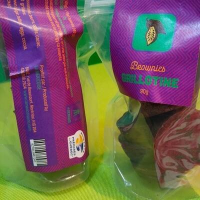 Brownies Protéinés<br>Grillons et Cacao