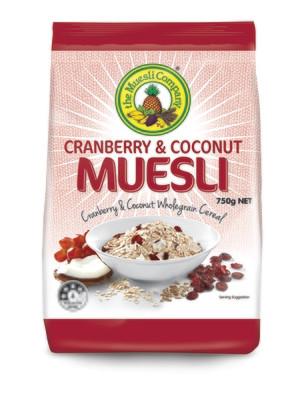 Cranberry & Coconut Muesli 750gx1