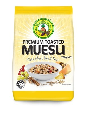 Premium Toasted Muesli 750g x 6 (free shipping)***