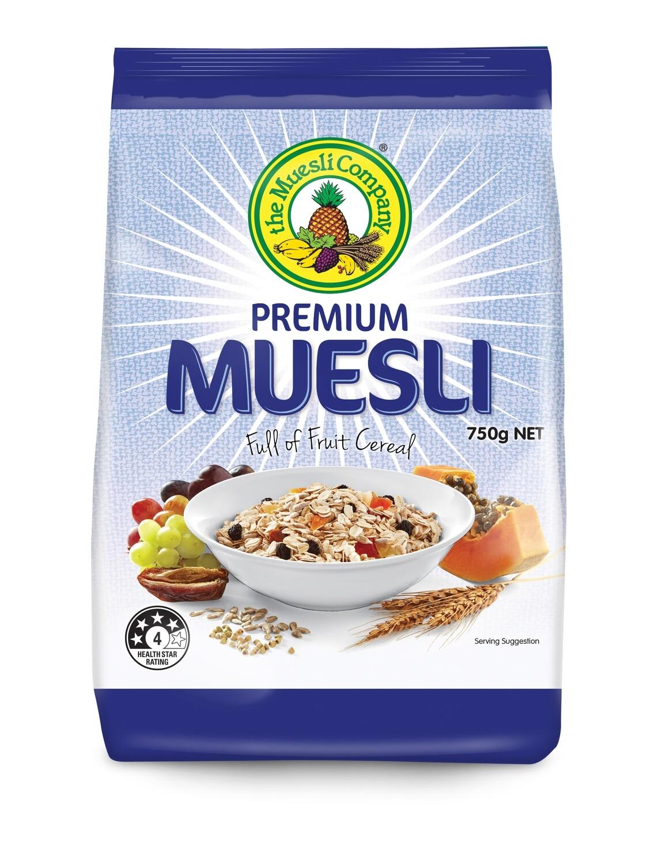 Premium Muesli 750g x 18 (bulk discount + free shipping)***