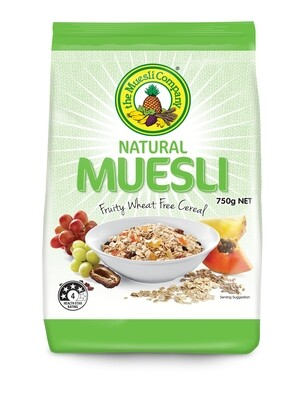 Natural Muesli 750g x 18 (bulk discount + free shipping)***
