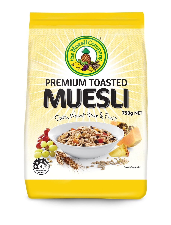 Premium Toasted Muesli 750g x 18 (bulk discount + free shipping)***