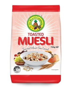 Toasted Muesli 750g x 18 (bulk discount + free shipping)***