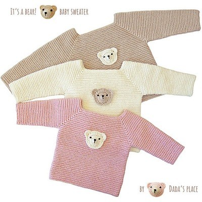 It's a bear! baby sweater
