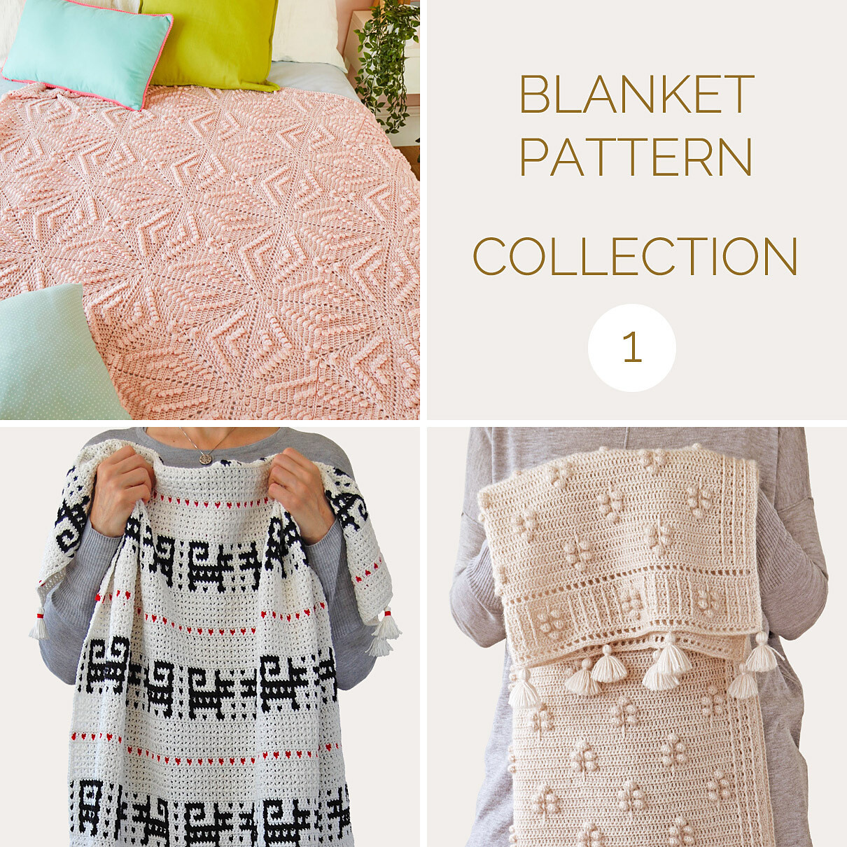 CROCHET BLANKET PATTERN COLLECTION 1