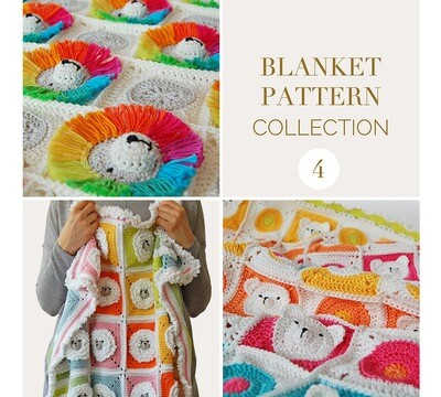 CROCHET BLANKET PATTERN COLLECTION 4