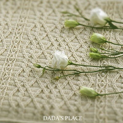 CROCHET PATTERN: Maisy Blanket With Cables