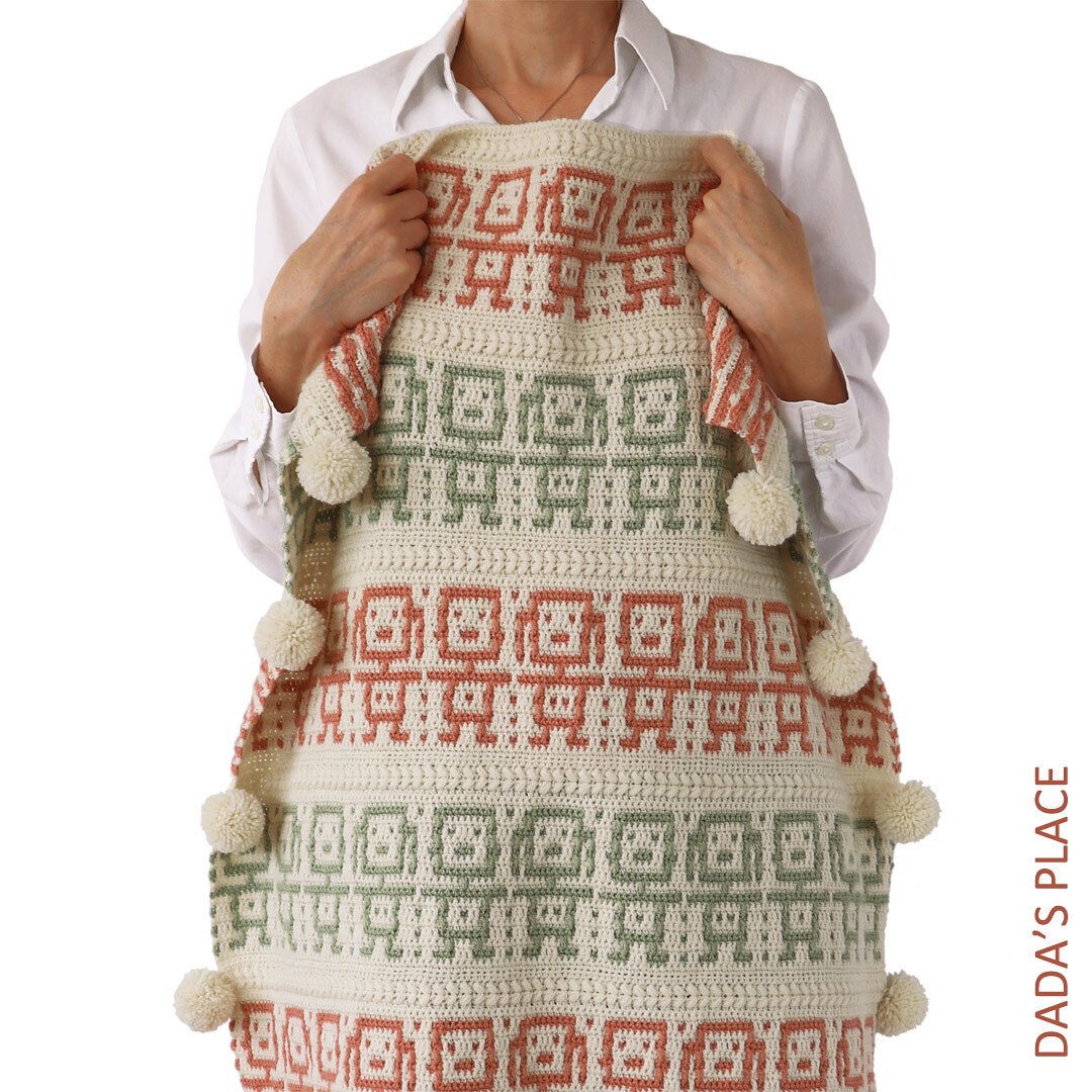 CROCHET PATTERN: BFF Mosaic Blanket