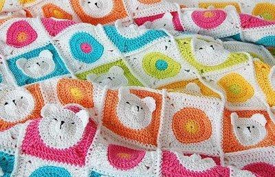 CROCHET PATTERN: Teddy Bear Baby Blanket