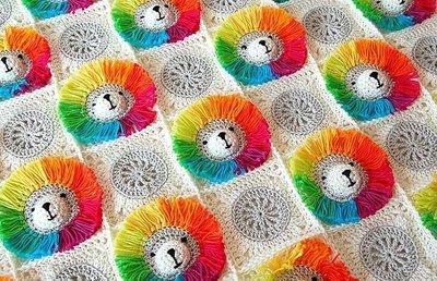 CROCHET PATTERN: Rainbow Lion Baby Blanket