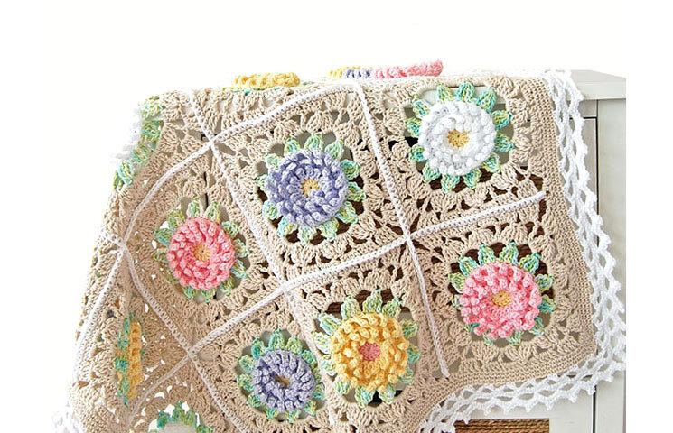 CROCHET PATTERN : English Garden Baby Blanket