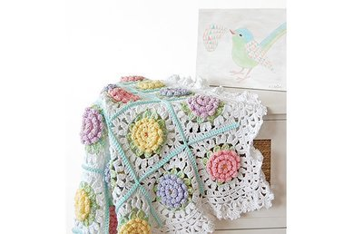CROCHET PATTERN: Victorian Flower Baby Blanket