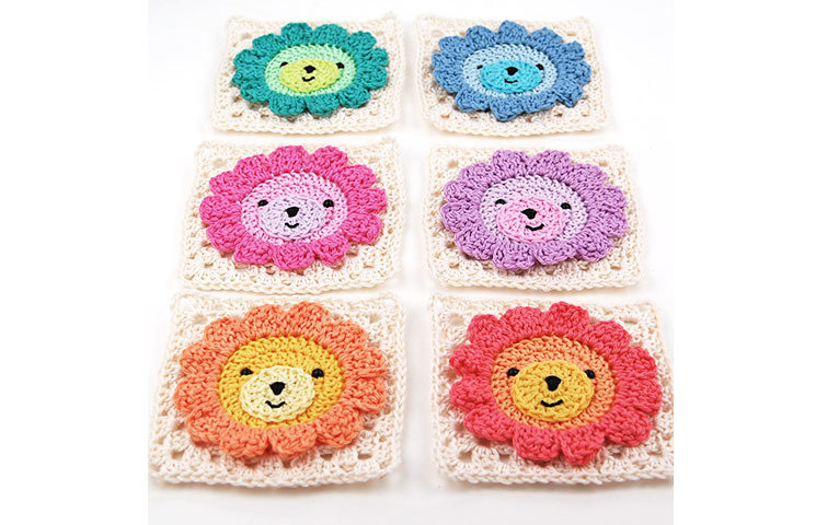 CROCHET PATTERN: Lion Granny Square