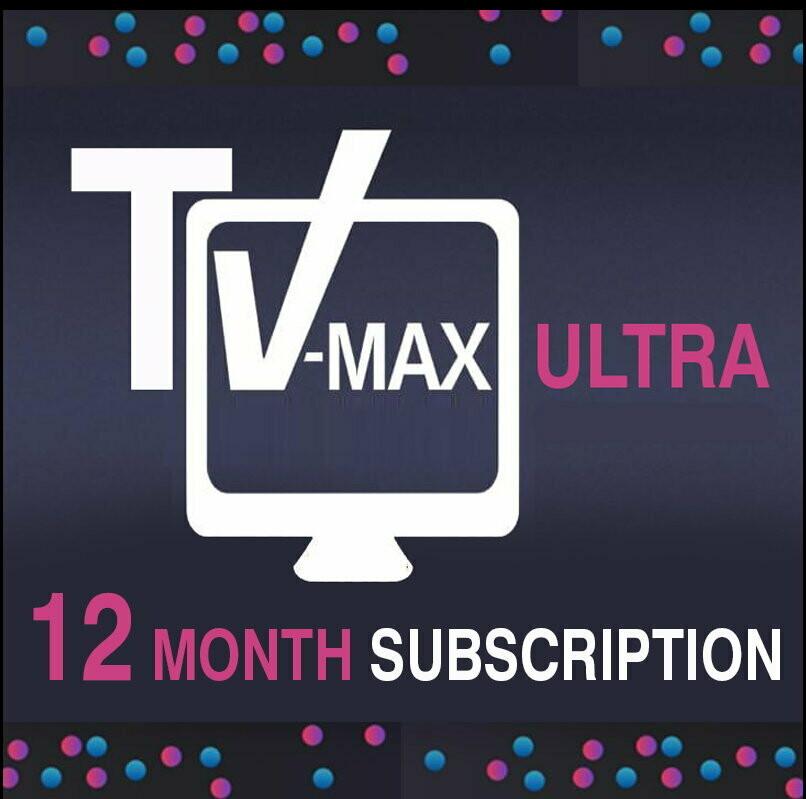 12 month Vmaxtv subscription