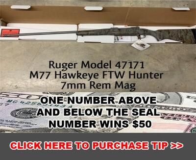 Ruger Model 47171 M77 Hawkeye FTW Hunter in 7mm Rem Mag