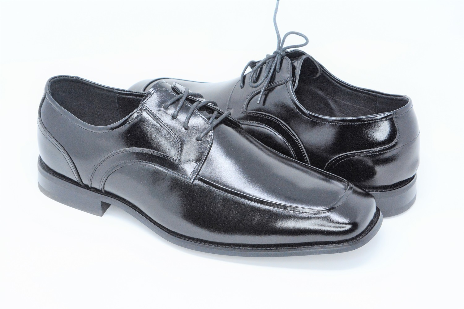 Shoes - Black Box Toe Lace Up Strap Stacy