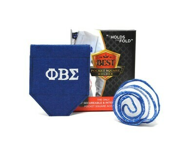 GREEK Sigma - Best Pocket Square Holder Package (1) Custom BPSH (1) Custom White Pocket Round + FREE Shipping