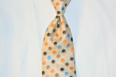 Necktie Set - Tan Brown Orange Skittle