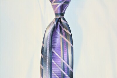 Necktie Set - Brushed Purple Grey Matrix