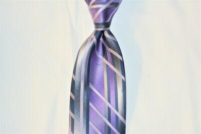 Necktie Set - Brushed Purple Grey Matrix