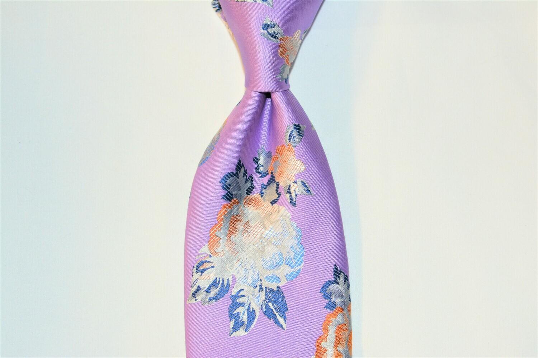 Necktie Set - Lavender Jumbo Flower