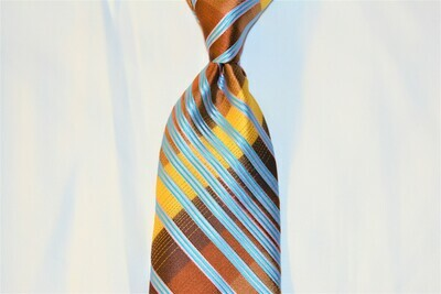 Necktie Set - Brown Gold Carolina Tron