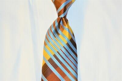 Necktie Set - Brown Gold Carolina Tron