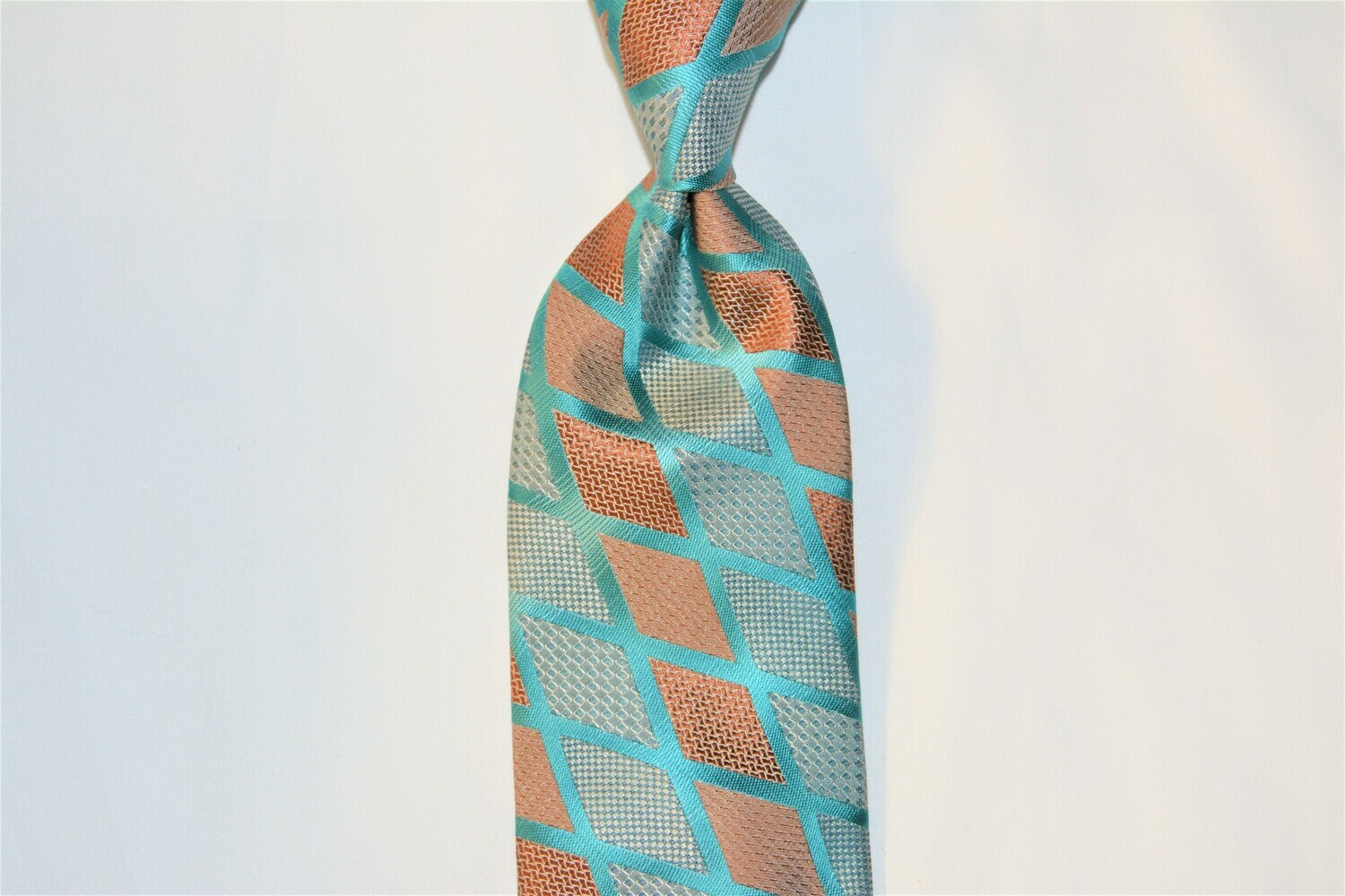 Necktie Set - Teal Grey Scales