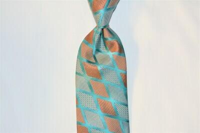 Necktie Set - Teal Grey Scales