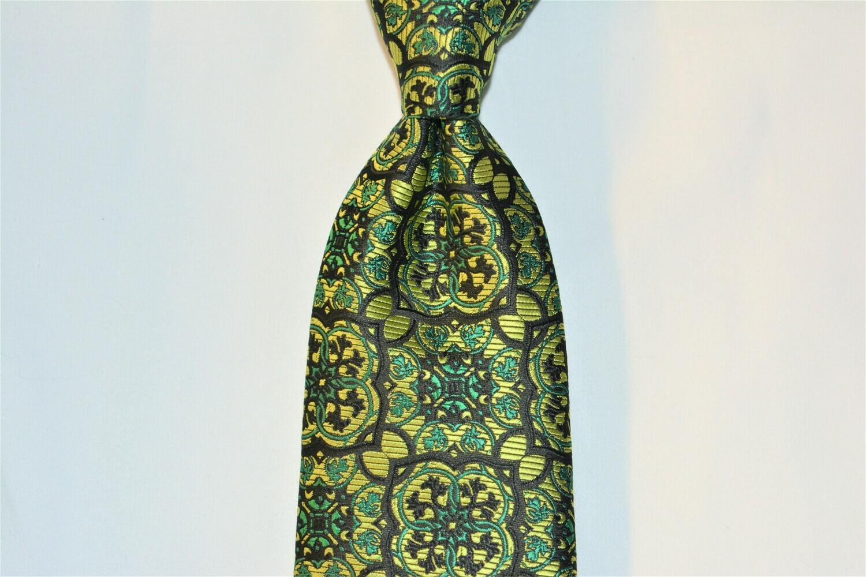 Necktie Set - Emerald Hunter Black Pendent