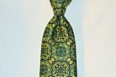 Necktie Set - Emerald Hunter Black Pendent