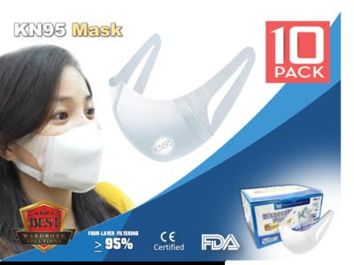 KN95 Respirator Mask - 10 PACK