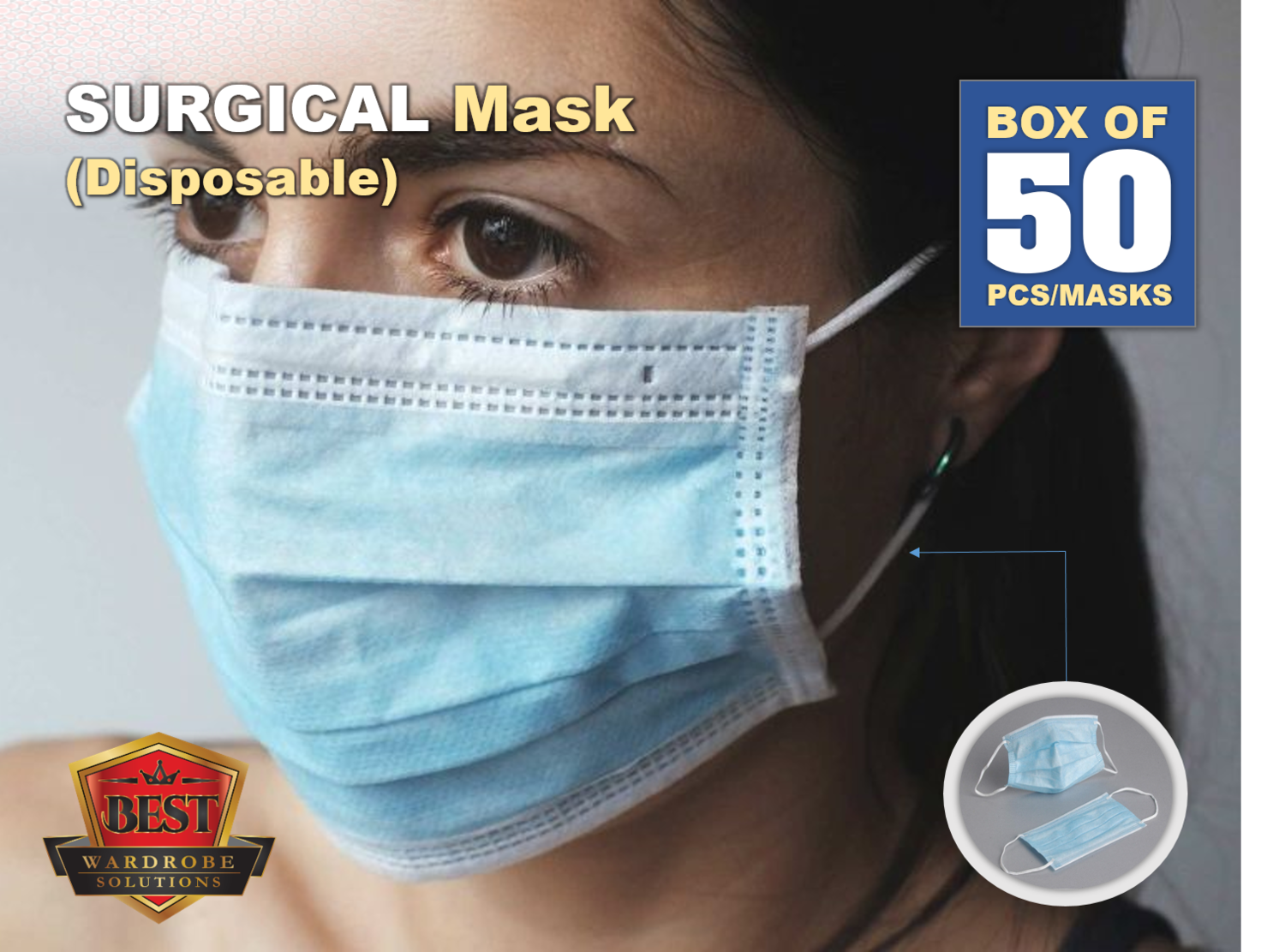 Surgical Mask - 50 PACK (Disposable)