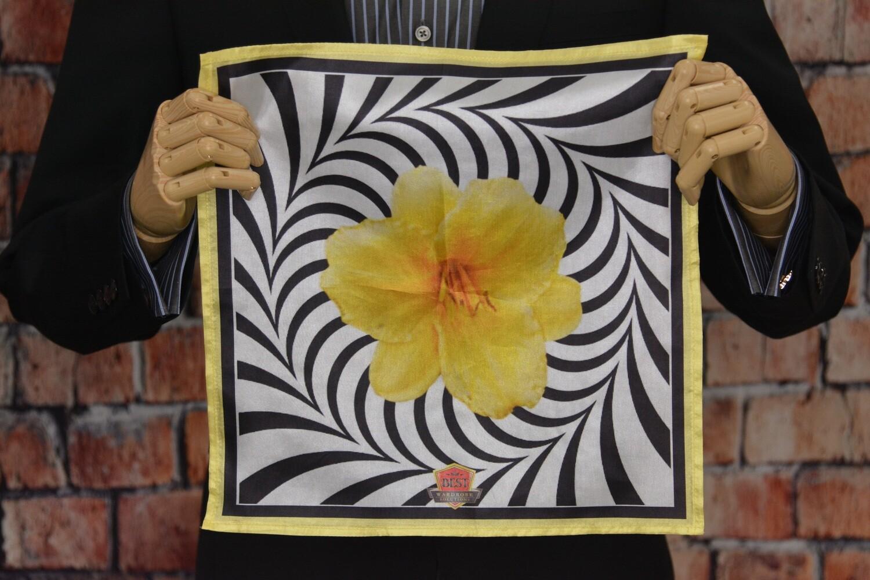 Premium Pocket Square - Yellow Flower Portal